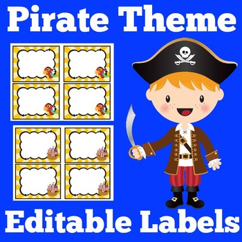 Pirates Theme Labels | Pirates Theme Classroom | Pirate Themed Decorations