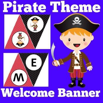 Pirates Theme Banner | Pirates Theme Classroom | Pirate Themed