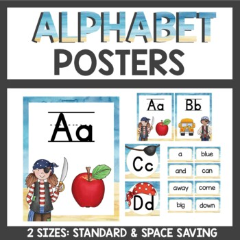 Pirate Theme Alphabet Posters