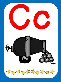 Pirate Theme ABC Card Set