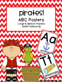 Pirate Theme ABC Posters - Large, Small & Flashcards