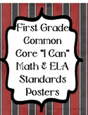Pirate Theme- ALL First Grade Common Core Standards Poster