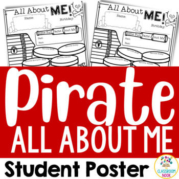 """Pirate Theme: """"All About Me"""" Poster"""