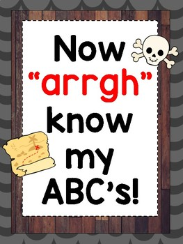 Pirate Theme Alphabet A-Z