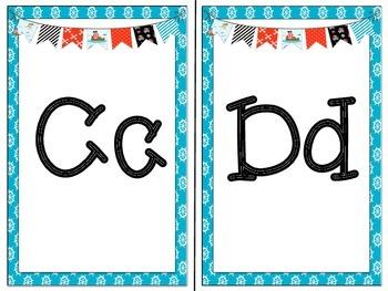Alphabet Line: Pirate Theme