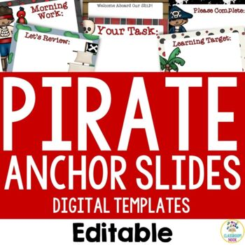 Pirate Theme: Anchor Slide Templates (Editable)