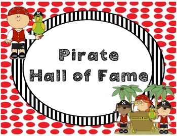 Pirate Theme Behavior Clip Chart