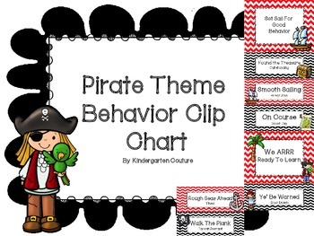 Pirate Theme Behavior Clip Chart