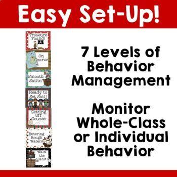 Pirate Theme: Behavior Management Chart & Poster