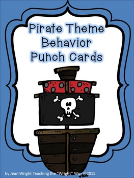 Pirate Theme Behavior Punchcards