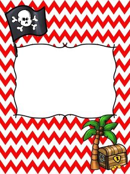 Pirate Binder Covers -Editable
