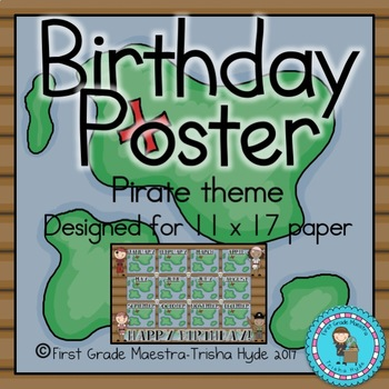 Pirate Theme Birthday Poster