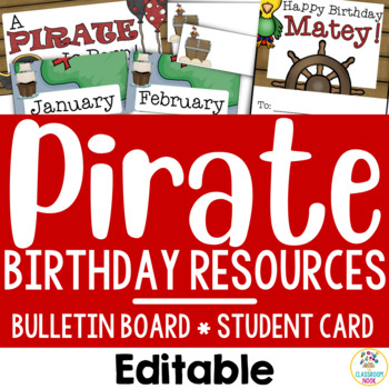 Pirate Theme: Birthday Resources (Editable)