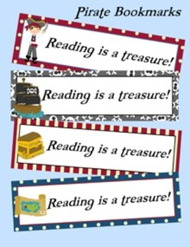 Pirate Theme Bookmarks