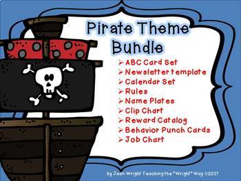 Pirate Theme Bundle for Classroom Decor and Classroom Management