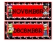 Pirate Theme Calendar Months