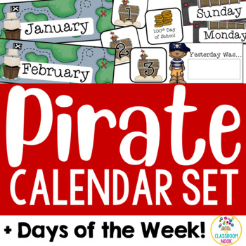 Pirate Theme: Calendar Set and Days of the Week Display