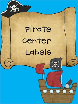 Pirate Theme Center Labels