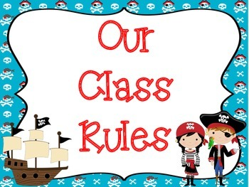 Class Rules: Pirate Theme
