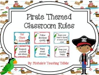 Pirate Theme Class Rules