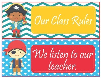 Pirate Theme Class Rules - EDITABLE