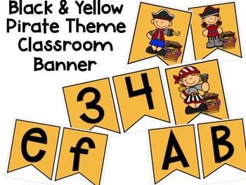 Pirate Theme Classroom Banner