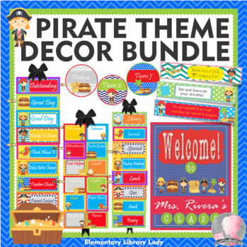 Pirate Theme Classroom Decor - BUNDLE