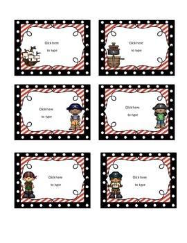 Pirate Theme Classroom Decor-EDITABLE!