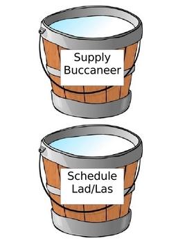 Pirate Theme Classroom Job Buckets