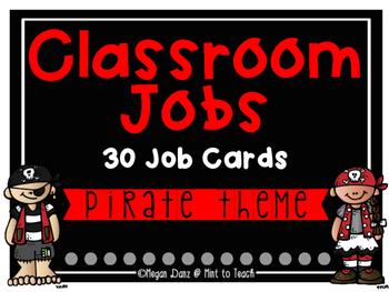 Pirate Theme Classroom Jobs - 30 Job Cards