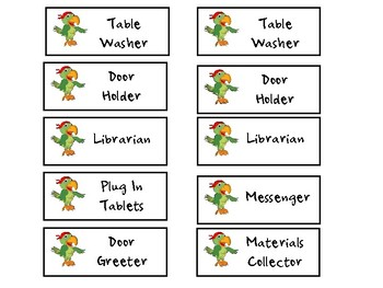 Pirate Theme Classroom Jobs