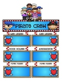 Pirate Theme Classroom Jobs Poster set