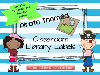 Pirate Theme Classroom Library Labels