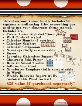 Pirate Theme Classroom MEGA Bundle