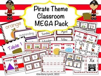 Pirate Classroom Theme MEGA Bundle (editable)