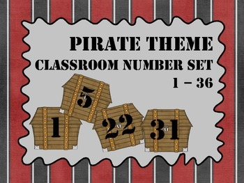 Pirate Theme - Classroom Number Set
