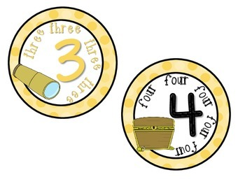 Classroom Numbers 1-10 Pirate Theme