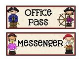 Pirate Theme Classroom Passes Set