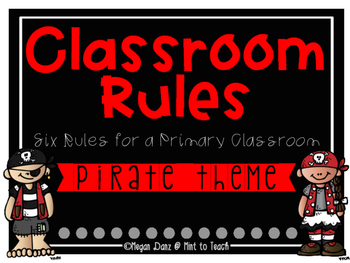 Pirate Theme Classroom Rules Mini Posters
