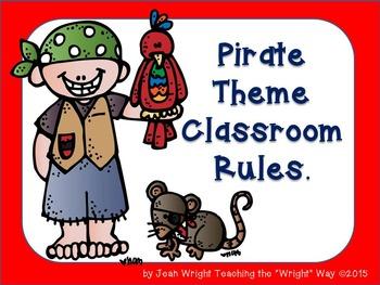 Pirate Theme Classroom Rules (editable)