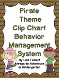 Pirate Theme Clip Chart Behavior Management System