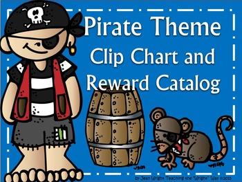 Pirate Theme Clip Chart and Reward Catalog {editable}