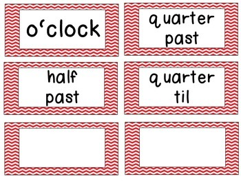 Pirate Theme Clock Tags & Labels