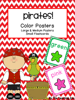 Pirate Theme Color Identification Posters