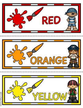 Pirate Theme - Color Posters - Classroom Decor