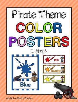 Pirate Theme - Color Posters - Classroom Decor