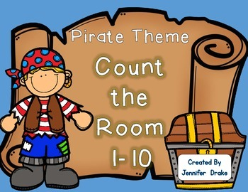 Pirate Theme Count the Room 1-10