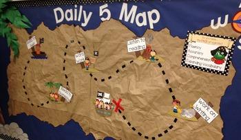 Pirate Theme Daily 5 Bulletin Board