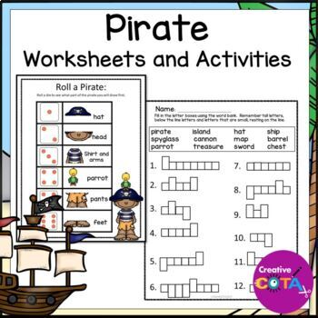 Pirate Theme Differentiated Worksheets and Activities