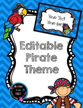 Pirate Theme Editable
